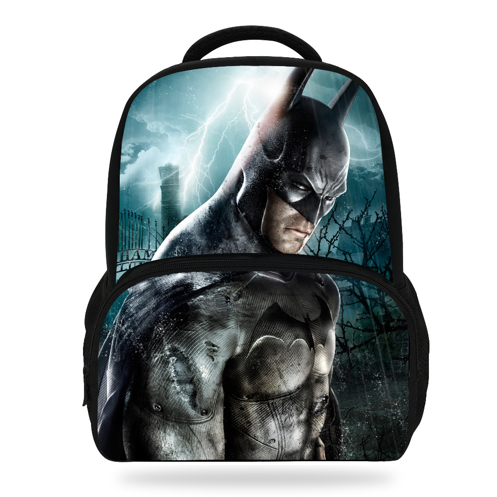 9da0e6d88e84 14inch Cool Children School Bags Boys Backpack Character Batman Backpack  For Kids Girls-in School Bags from Luggage   Bags on Aliexpress.com