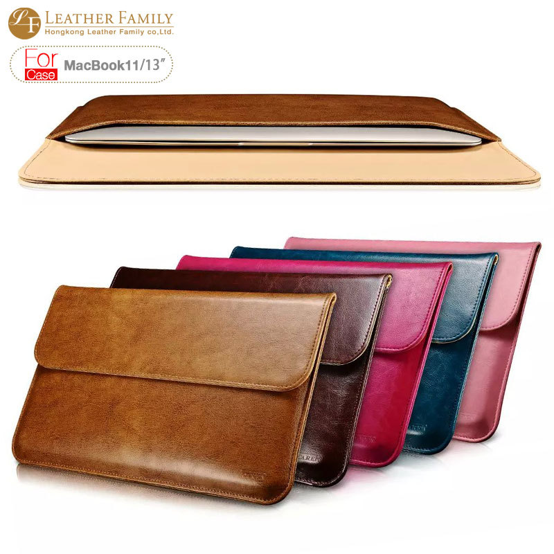 For Macbook air13 case Ultrabook Sleeve Genuine Leather Case for Macbook Air 11 13.3