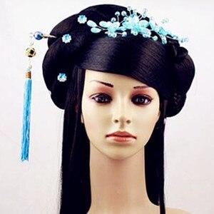 Image 5 - สีดำเจ้าหญิงอุปกรณ์เสริมผมจีนโบราณ Dynasty ผมยาวโบราณเจ้าหญิง Photo อุปกรณ์สตูดิโอ