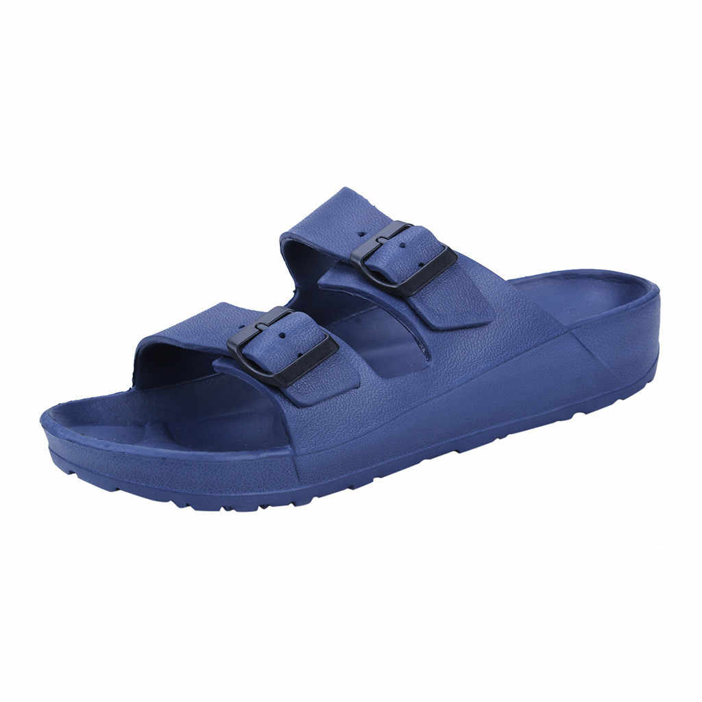 Mannen Mode Dragen Platte Slippers Strand Schoenen Ultra Light Dubbele Gesp Sandalen Kanye Mode West Mesh Licht Ademend