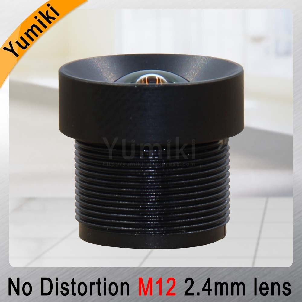Yumiki 2.4mm M12 Lens 1/3 Inch 5MP IR F1/2.0 No Distortion For Cctv Camera