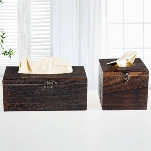 Коробка для салфеток, Высококачественная винтажная сгоревшая деревянная коробка для ящика, барный ресторан, китайский красивый держатель для салфеток, чехол прямоугольной формы