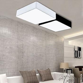 Black / White Mordern Contracted iron square DIY Ceiling Light living room Bedroom Light Restaurant Decoration Lamp