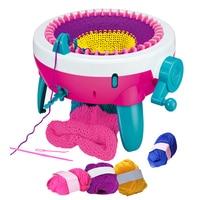 40 Needle Plastic Spool Big Hand Knitting Machine Weaving Loom Knit DIY Scarf Children Knitting Educational Toys