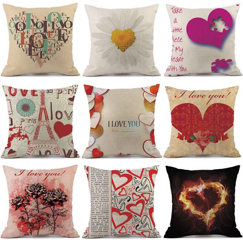 Cushion Cover Home & Garden Balloon And Letters Cushion Cover Home Decor Pillow Cover For Sofa Romantic Valentine Day Gift Pattern Pillowcase Seat Cushions Let Our Commodities Go To The World