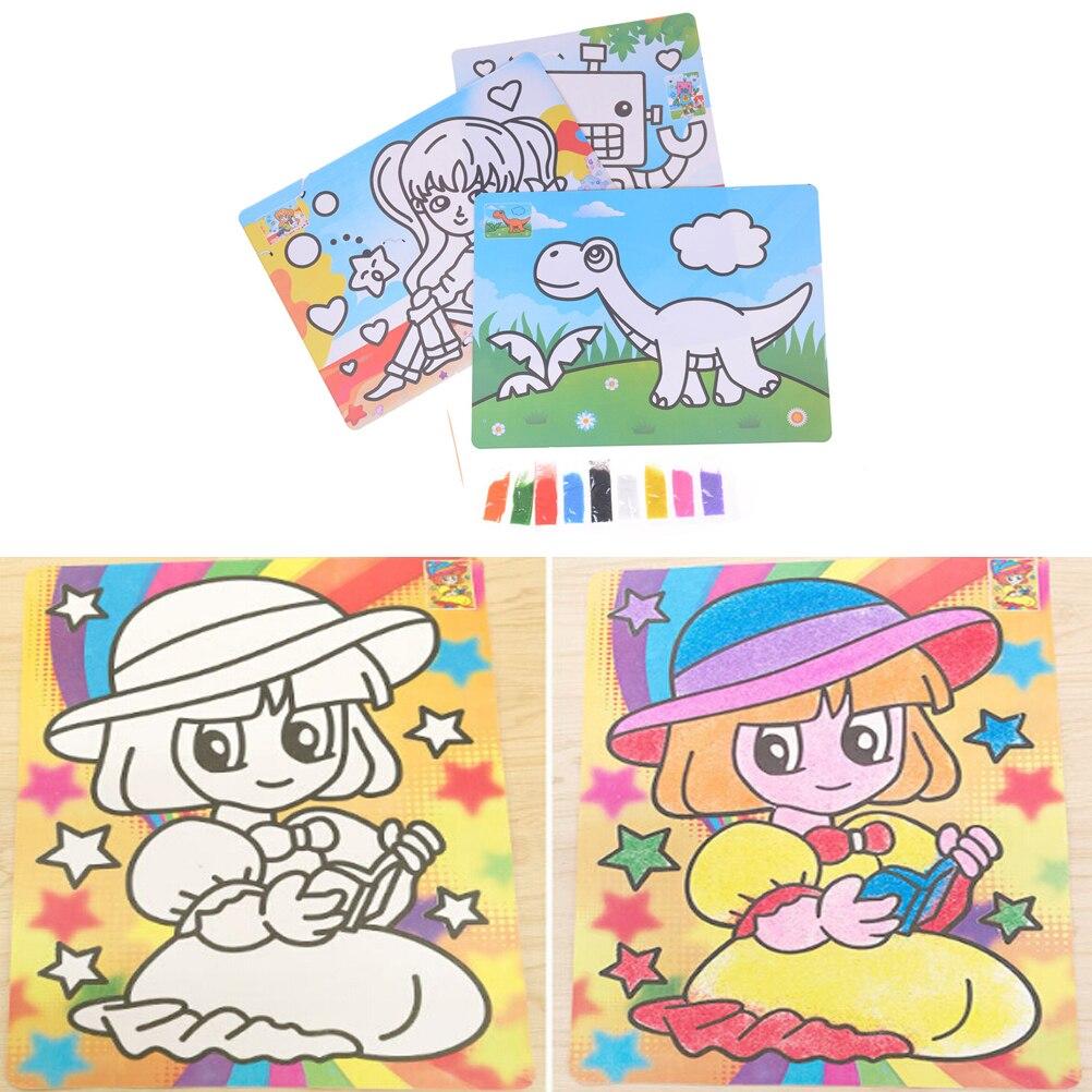 Offre Speciale Bricolage Sable Peinture Dessin Coloriage Jouets Enfants Apprentissage Education Jouet Avec 9 Couleur Cadeau Aliexpress