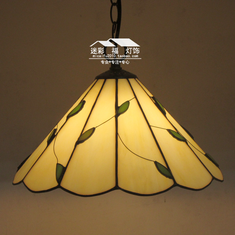 12 Inch Flesh Country willow leaves Tiffany pendant light  Stained Glass Lamp for Bedroom E27 110-240V12 Inch Flesh Country willow leaves Tiffany pendant light  Stained Glass Lamp for Bedroom E27 110-240V