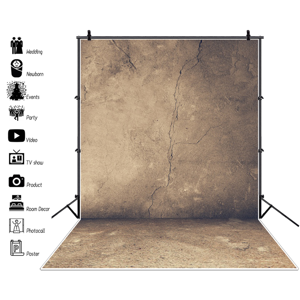 Laeacco Photo Backgrounds Old Cement Wall Texture Party Child Solid Color Portrait Photography Backdrops Photocall Photo Studio