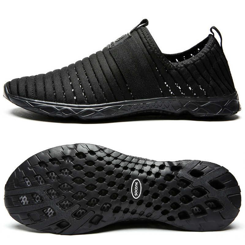 274555e634b14 SOCONE Women Sport Shoes Outdoor Summer Mesh Shoes Slip-on Walking Shoes  For Women Lightweight