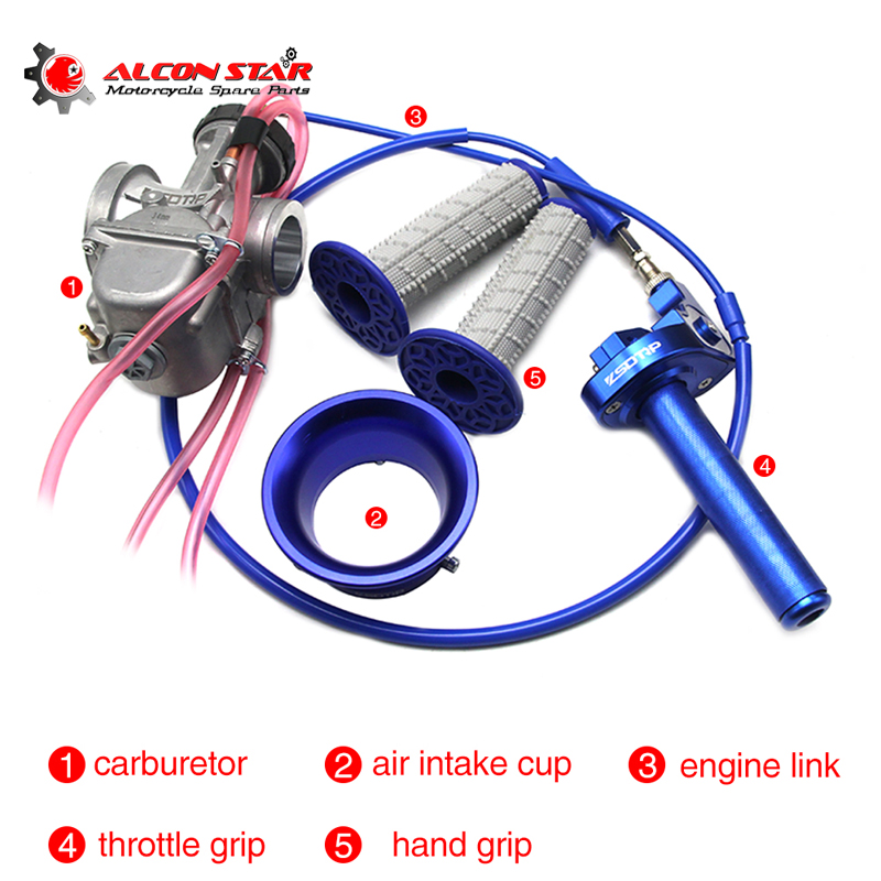 Alconstar-34 36 38 40 42mm Motorcycle PWK Carburetor with Wind Cup,Throttle Hnadle Grips Used 4T Engine Motocross ATV UTV RacingAlconstar-34 36 38 40 42mm Motorcycle PWK Carburetor with Wind Cup,Throttle Hnadle Grips Used 4T Engine Motocross ATV UTV Racing