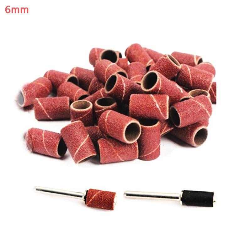 100ks 6mm brusný papír brusný kotouč brusný kotouč pro dřevoobráběcí dremel nářadí příslušenství brusný papír rotační nástrojový kámen