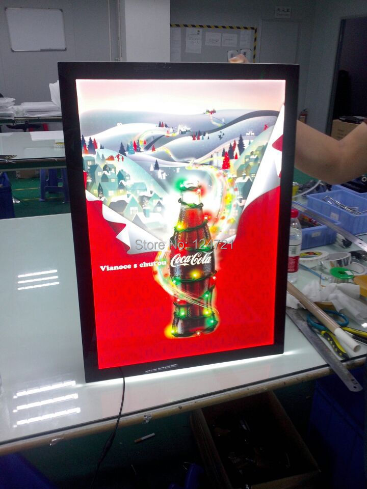 magnetic led single side panel display,acrylic a4 size snap frame display led light signs