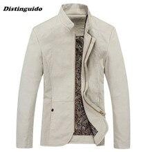 Men's Fashion Casual Jacket Brand New Man Spring Mandarin Collar Jacket Autumn Male Outwear Plus Size MJK001