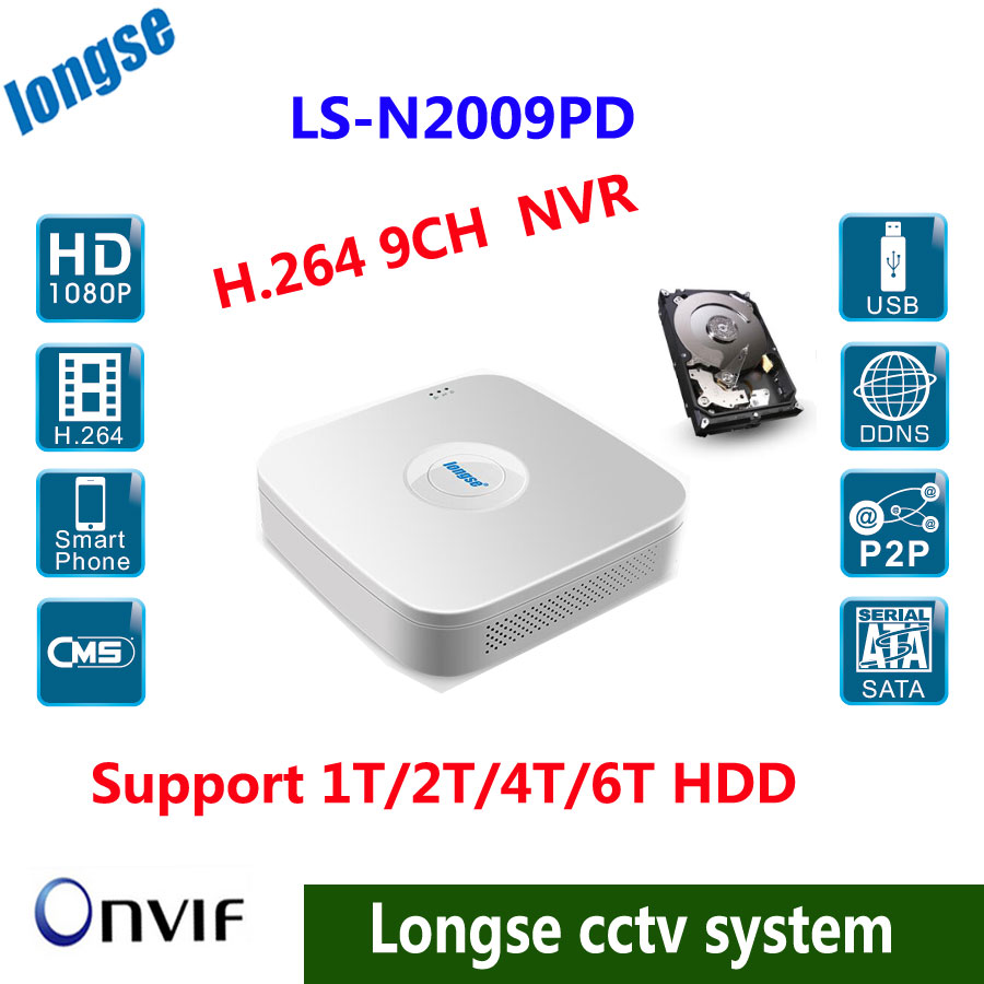 ФОТО Full HD 1080P CCTV NVR 9CH NVR For IP Camera ONVIF H.264 HDMI Network Video Recorder  9 Channel NVR