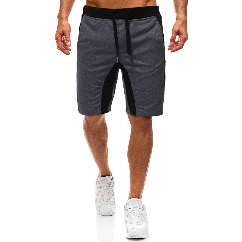 Summer Shorts Men Leisure Sports Fitness Color Matching Breeches Loose Streetwear Plus Size S-2xl