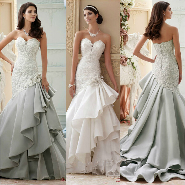 light gray wedding dress kopen grijs kant trouwjurk uit china 5523