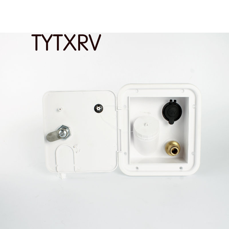 White Carded Gravity Plastic Water Inlet Hatch Caravan Accessories Camper Motor Home TYTXRV RV Hatch Trailer