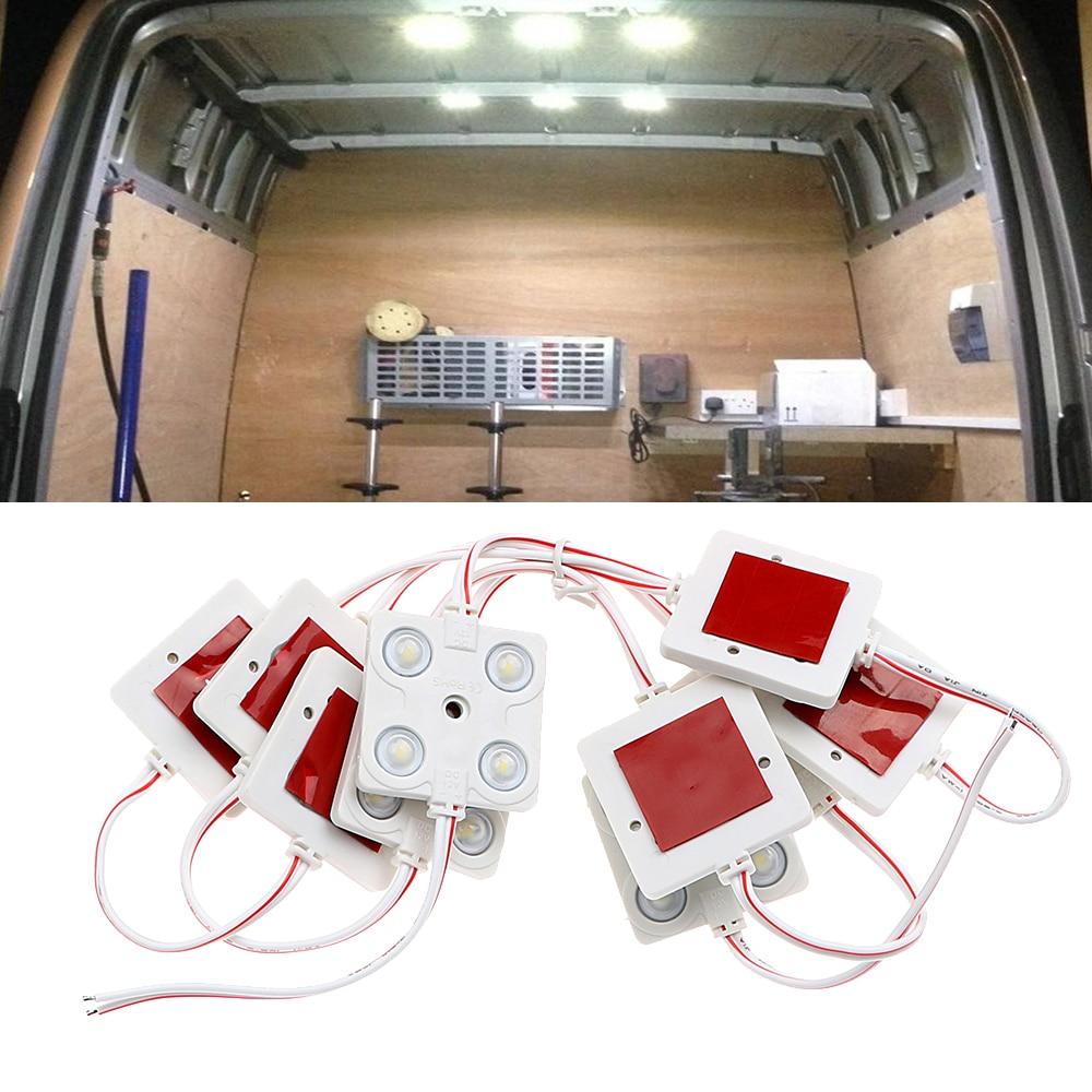 Car Reading Light Auto Roof Kit Styling Waterproof Led Wiring Boat Lights Lamp For Rv Van Trailer 12v 10x4 Leds Bright White