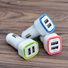 цена на 2.1A LED Dual USB Car Charger Universal 2 Port Fast Charging Charger Adapter Cigarette Socket Lighter For Phone Samsuang HTC