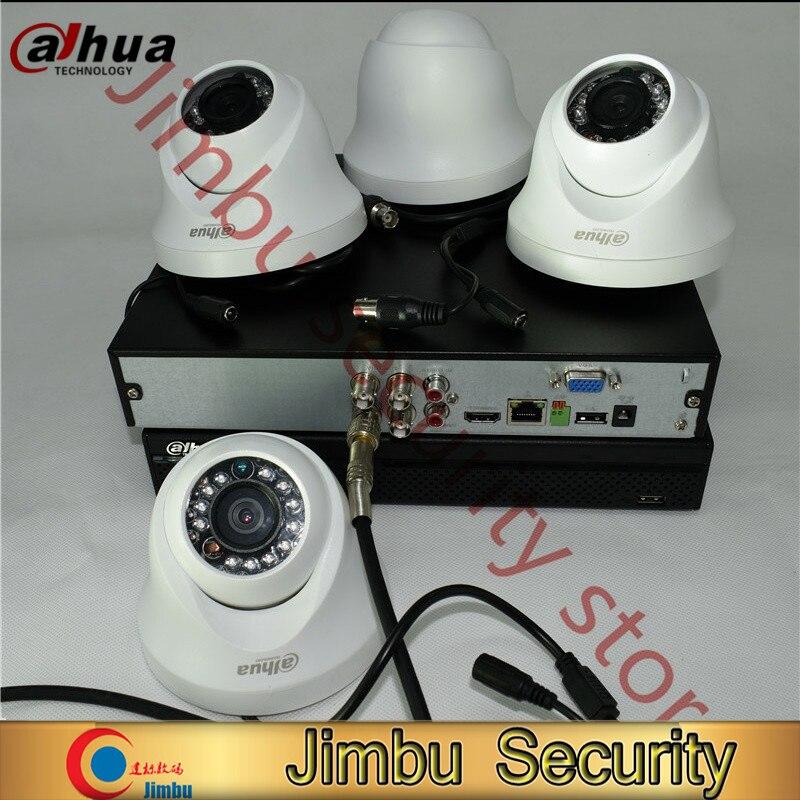 Dahua 720P hdcvi kit 4ch surveillance system XVR4104HS Video Recorder 4pcHDCVI HAC-HDW1100C infrate 20M cctv security camera dahua hdcvi 1mp camera hac hdw1100c dome cmos 720p lens6mm ir 20m ip66 security camera hdw1100c