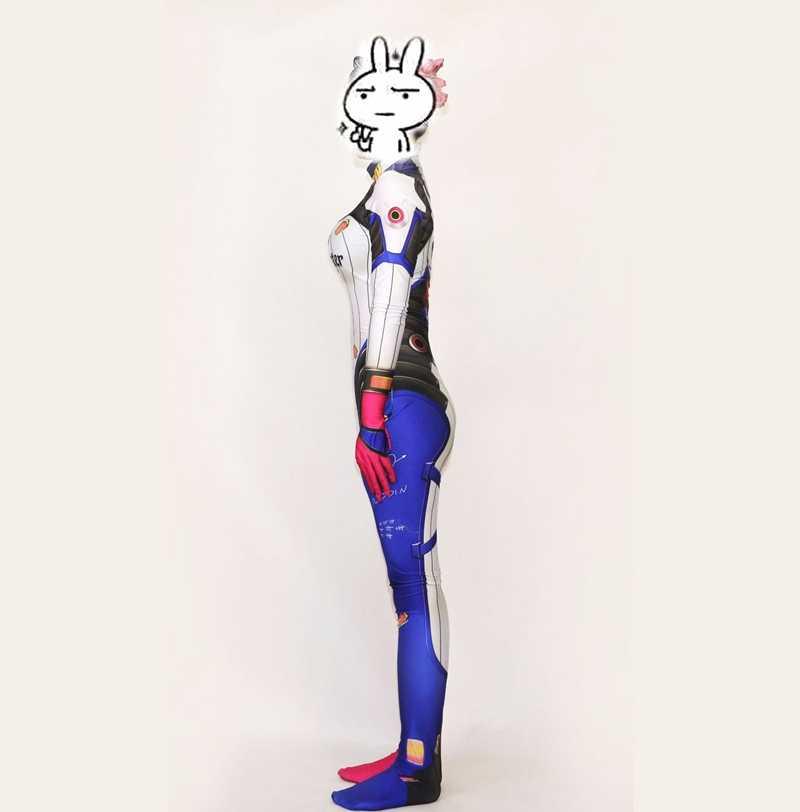 FOGIMOYA Harley Quinn Suicide Squad D. VA Haut Cosplay Kostüm Zentai Superhero Body Anzug Overalls