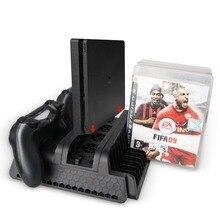 Оригинальный вертикальный стенд с охлаждающим вентилятором контроллер зарядная станция 2 Порты и разъёмы USB концентратор диски для хранения Playstation 4/PS4 Slim/Pro