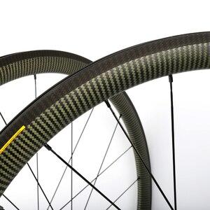 Углеродные колеса 88 мм Колесная установка 60 мм 38 мм желтые кевларовые золотые глаза 50 мм DT 240s/350s sapim CX-ray