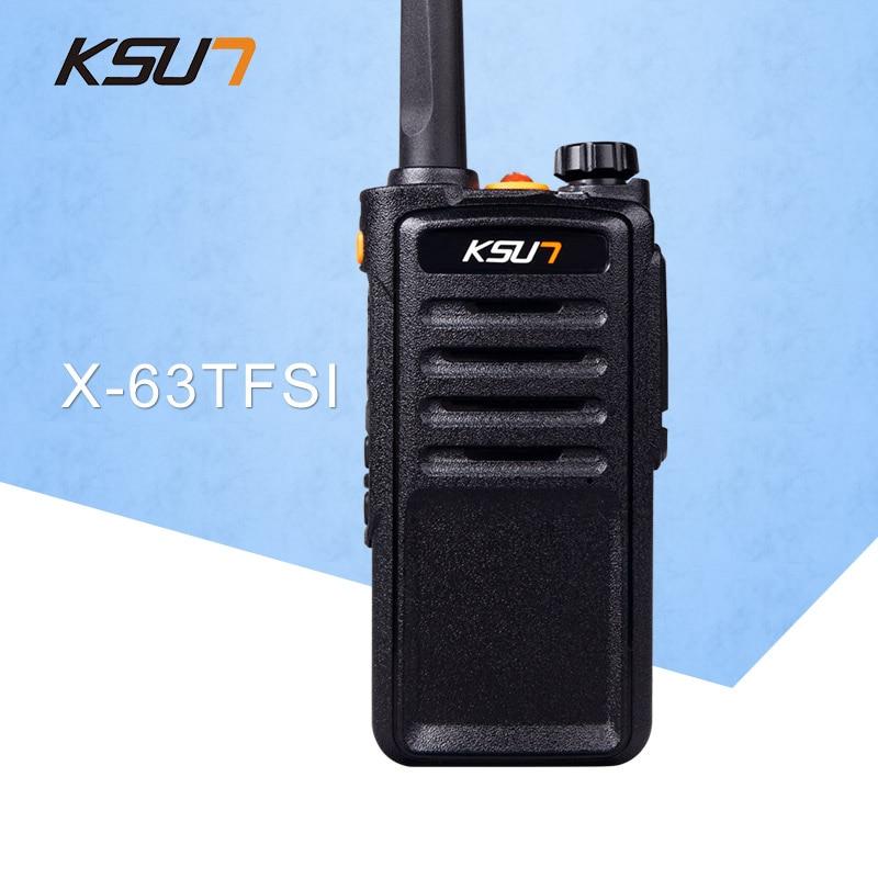 (1 komada) KSUN X-63TFSI Crni Walkie Talkie UHF 400-470 MHz MINI - Voki-toki - Foto 1