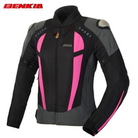 BENKIA JWW68 Women Motorcycle Jcaket Summer Racing Clothes Spring and Autumn Mesh Breathable Motocross Riding jacket