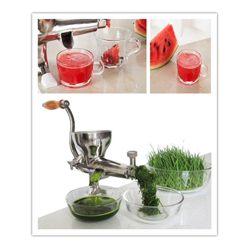 304 stainless steel manual wheatgrass juice extractor slow juicer  ZF household healthy manual slow food juicer extractor fruit vegetable wheatgrass juice squeezing machine