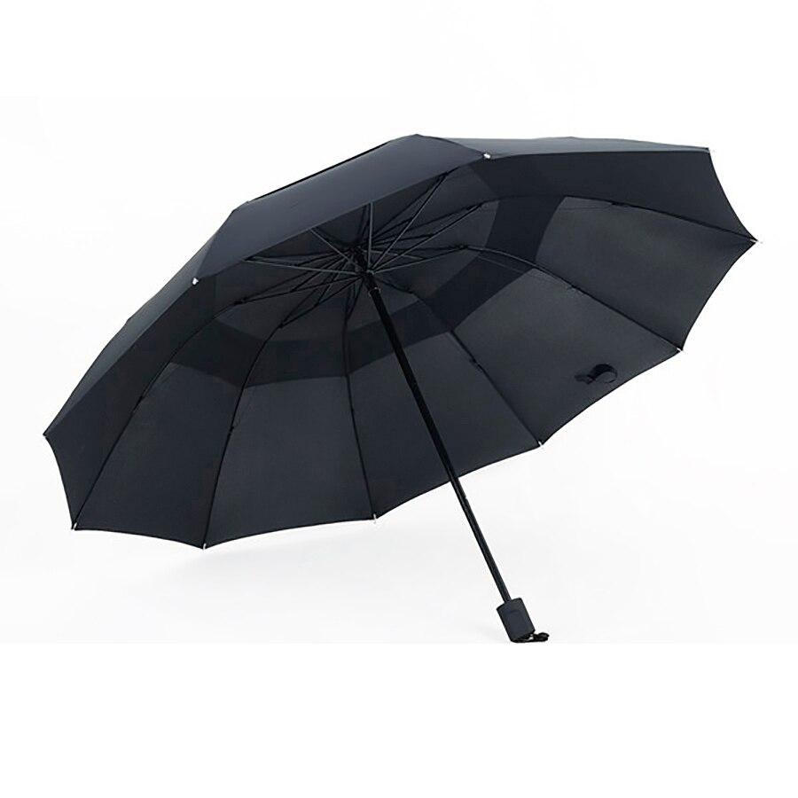 JESSE KAMM New Big Strong Three Folding Comapct Rain Two Three People Super Big 10 Ribs