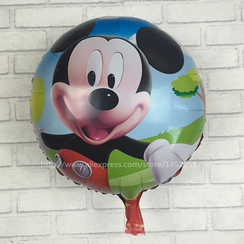 Festive & Party Supplies Efficient Xxpwj The New Childrens Toy Round Aluminum Balloons Happy Birthday Party Balloons Wholesale Mickey K-003 Demand Exceeding Supply