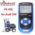 Vgate VS450 VAG 450 Escaner Automotriz Сканер Для VW Volkswagen Audi OBDII OBD Code Reader Диагностический Инструмент VAS5054 ОДИС PK UDS