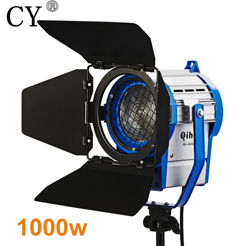 High Quality Photo Studio 1000w 1k Tungsten Fresnel Video Light Continuous Lighting For Movie Hot Selling for film 300w 1000w 2 dimmer 4 fresnel tungsten spot light camera video studio
