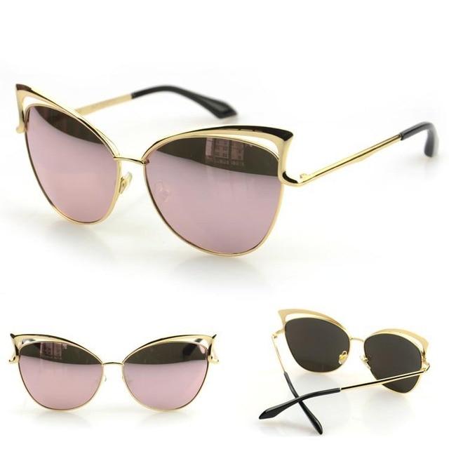 Nova moda 2015 olhos de gato do Vintage óculos de sol mulheres Designer de  marca óculos 4b63831908