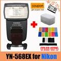Yongnuo YN-568EX для Nikon Ю. Н. 568Ex HSS Флэш Speedlite YN 568 D800 D700 D600 D200 D7000 D90 D80 D5200 D5100 + 12 Шт. Цвет Карты