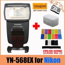 Yongnuo IN-568EX para Nikon YN 568Ex HSS Flash Speedlite YN 568 D800 D700 D600 D200 D90 D80 D7000 D5200 D5100 + 12 Pcs Cartões de Cor