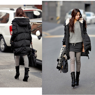 2013 winter new arrival Plus size women's long design wadded jacket down cotton-padded jacket outerwear