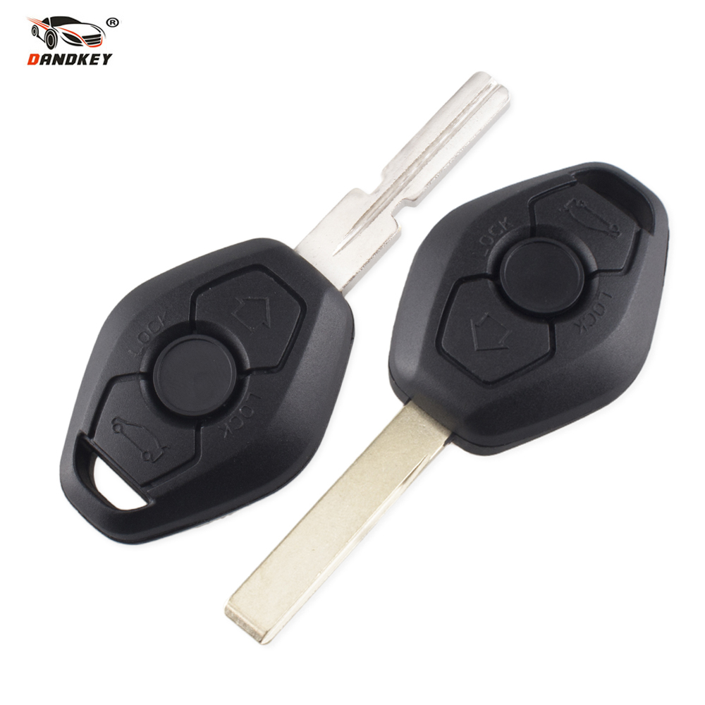 DANDKEY 3 Button Remote Key For BMW E38 E39 E46 EWS System 433MHZ/315MHZ With PCF7935AS No Chip HU92 Blade Excellent Quality