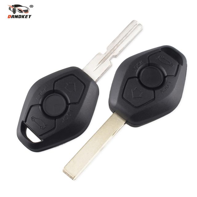 DANDKEY 3 Button Remote Key For BMW E38 E39 E46 EWS System 433MHZ/315MHZ With PCF7935AS No Chip HU92 Blade Excellent Quality