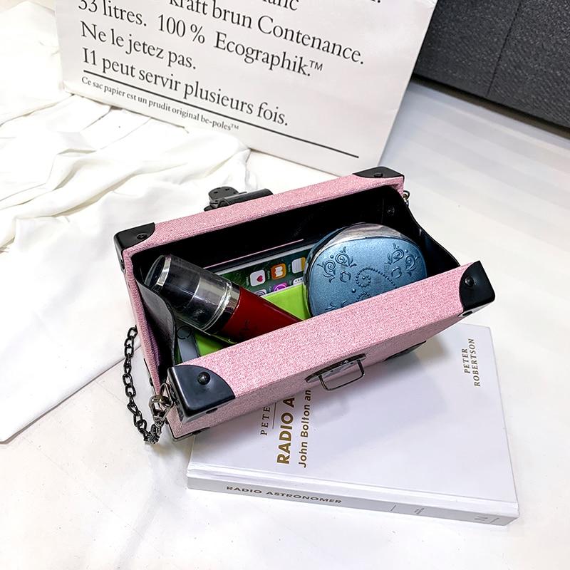 Luxury Handbags Women Bags Designer Box Shape Woman Handbag Shoulder Crossbody Bag Silver Gray Bag for Women 2019 sac main femme in Top Handle Bags from Luggage Bags