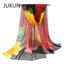 Elegantly scarf fashion printing multi-color scarf air conditioning shawl ultra-thin scarf ladies accessories wome s unique rural stylethin chiffon shawl scarf sapphire blue multi color