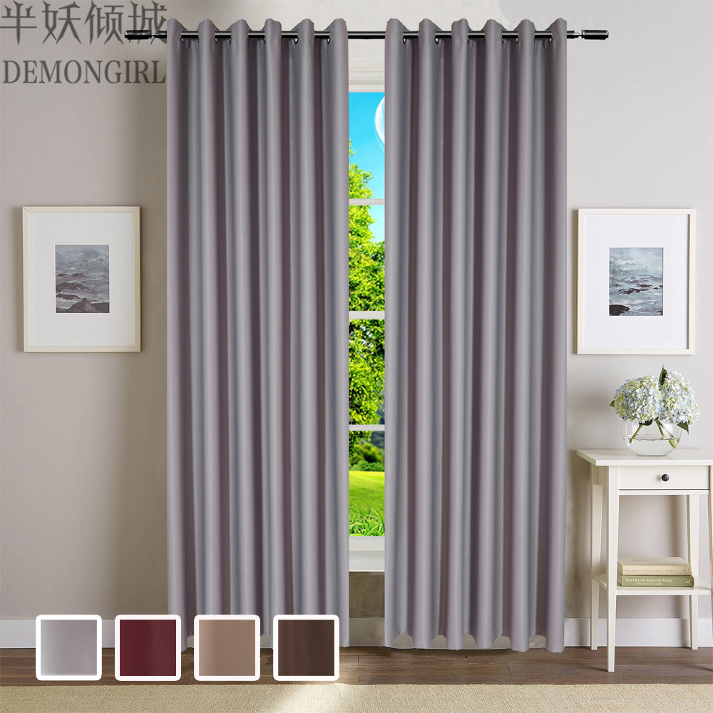 Cafe curtains for bedroom - Demongirl New Modern Solid Blackout Curtains For Living Room Bedroom Fashion Simple Window Blinds Home Decor