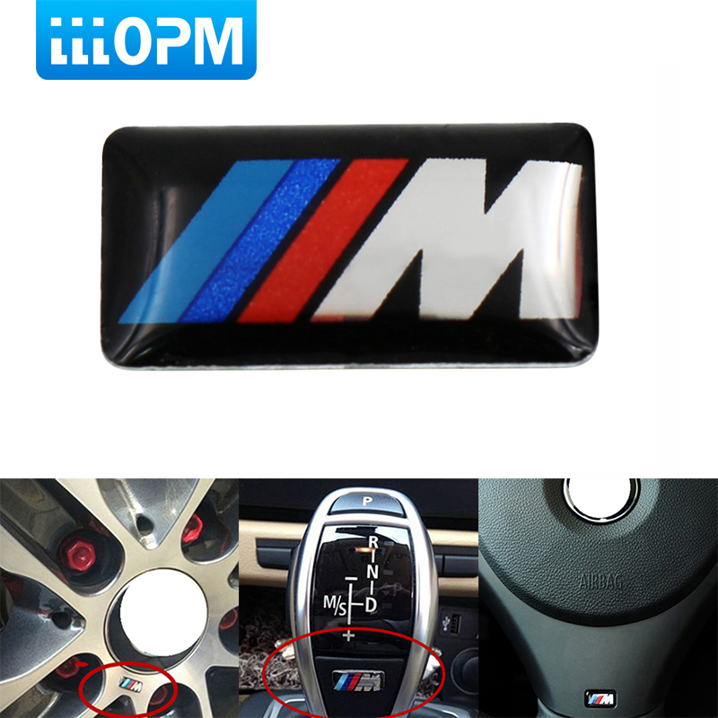 1PCS M Mpower M-tech Emblem Badge Sticker Wheel Decal for BMW E46 E30 E34 E36 E39 E53 E60 E90 F10 F30 M3 M5 M6 Car styling soarhorse car rear trunk lid emblem badge chrome letters 320i 325i 328i 330i 335i sticker for bmw 3 series e30 e36 e46 f30 e90
