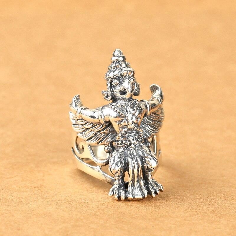 S925 bijoux en argent mode anneau emblème de la thaïlande bague en argent hommes caractéristiques de la personnalité