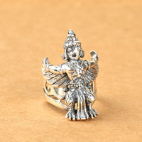 S925 silver jewelry fashion ring emblem of Thailand Silver Ring Mens personality characteristics
