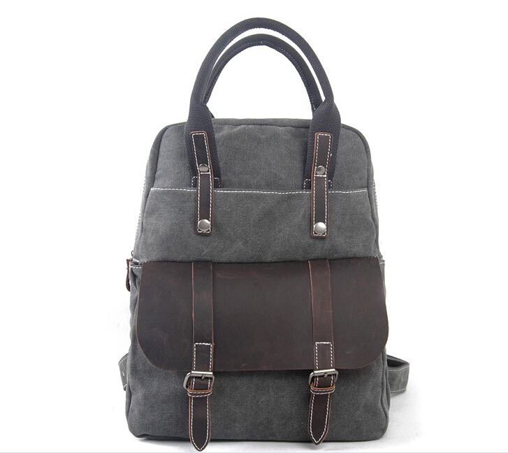 Vintage Leather Canvas men Laptop Business Portfolio office bag male Multifunctional briefcase Solid document tote a4 leather discolor manager file folder restaurant menu cover custom portfolio folders office portable pu document report cover