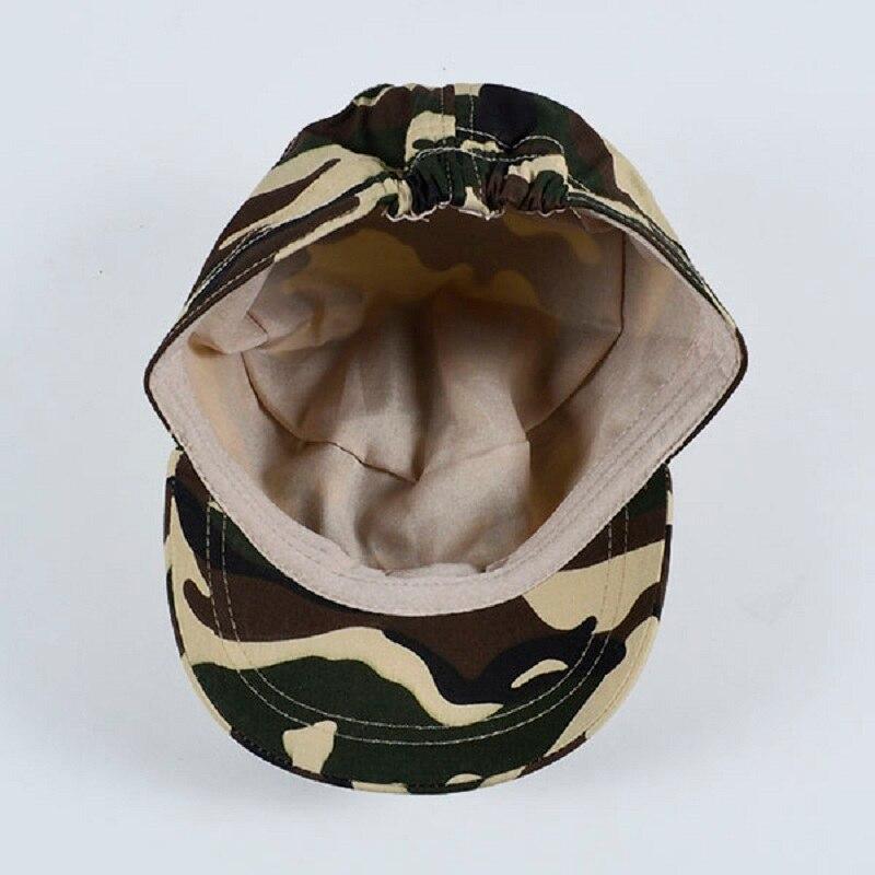 ... muchachos CAMO camuflaje ejército militar de cadetes nueva moda Flat  Bill Sun Cap niños sombreros de deportes al aire libre CA en Sombreros y  Gorras de ... 233cf7d860c