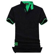 Плюс Размер 6XL 7XL 2017 Новая Мода Бренд мужской Поло Рубашка твердые V Шеи С Коротким Рукавом Slim Fit Летние Повседневные Мужские Поло рубашка(China (Mainland))