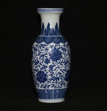 Chinese antique painting / fine porcelain blue and white vase